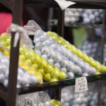 Bags of practice balls were a bargain at the Northern Indiana Golf Show.